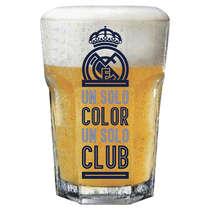 Copo Cerveja Real Madrid Colores 400 ml - Coleção Oficial