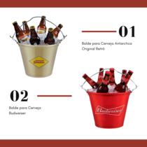 Dia dos Pais - Balde para Cerveja Antarctica Original Retrô + Balde Budweiser