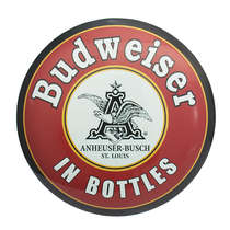 Escudo de Metal - Budweiser 45 cm