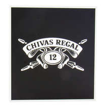Espelho Decorativo - Chivas Regal - Moldura Prata - Fundo preto