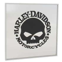 Espelho Decorativo - Harley Davidson - Moldura Prata