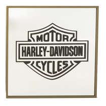 Espelho Decorativo - Harley Davidson - Moldura Dourada