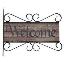 Flange Decorativa de Metal 28 x 32 cm - Welcome