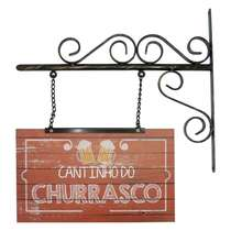Flange Decorativa de Metal 38 x 37 cm - Cantinho do Churrasco