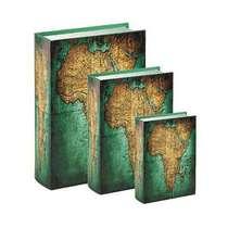 Jogo de Caixas Decorativas Livro Retrô - África 3 Peças