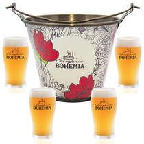 Kit Balde Bohemia + 4 copos Bohemia