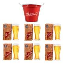 Kit Balde Budweiser + 6 copos Budweiser