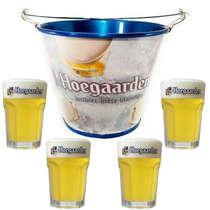 Kit Balde Hoegaarden+ 4 copos Hoegaarden