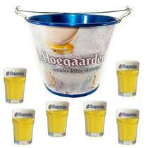 Kit Balde Hoegaarden + 6 copos Hoegaarden