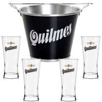 Kit Balde Quilmes + 4 copos Quilmes