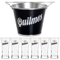 Kit Balde Quilmes + 6 copos Quilmes