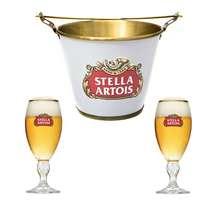 Kit Balde Stella Artois + 2 Cálices Stella Artois