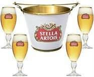 Kit Balde Stella Artois + 4 Taças Stella Artois