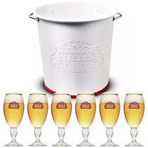 Kit Balde Stella Artois + 6 copos Stella Artois