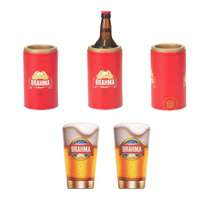 Kit Especial Brahma - Cervegela Luxo + 2 Copos Calderetas 350 ml