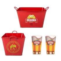 Kit Especial Brahma - Tina + 2 Copos Calderetas 350 ml