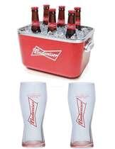 Kit Especial Budweiser - Balde de Acrílico+ 2 Copos Budweiser 400 ml
