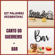 Kit Especial Palavras Decorativas - Canto do Guerreiro + Bar