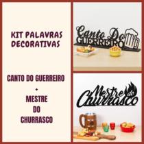 Kit Especial Palavras Decorativas - Canto do Guerreiro + Mestre do Churrasco