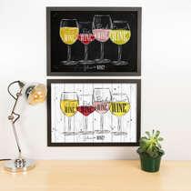Kit Especial Quadros Decorativos - Glass of Wine  - 45x33 cm