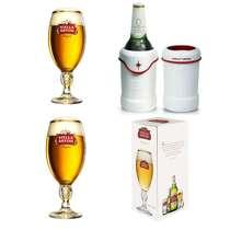 Kit Especial Stella Artois - Cervegela Relevo + 2 Cálices 250 ml