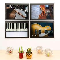 Kit Especial - 4 Quadros Decorativos Quarteto - 33x22 cm