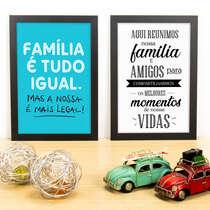 Kit Especial - Quadros Família é tudo igual + Momentos - 33x22 cm