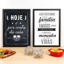 Kit Especial - Quadros Por Conta da Casa + Momentos - 45x33 cm