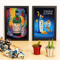 Kit Especial - Quadros Tanqueray Fest + Bombay Sapphire - 33x22 cm