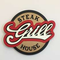 Placa MDF em relevo  - Steak Grill