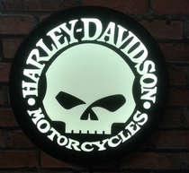 Luminoso Harley Davidson Caveira - 31cm