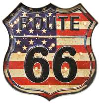 Luminoso a pilha Route 66 Led - USA