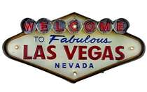 Luminoso Welcome to Vegas  c/ Led - 25x49 cm