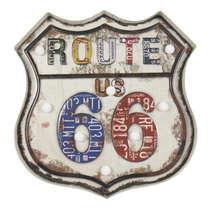 Luminoso a pilha Route 66 Led (Lâmpadas Brancas) - Cores
