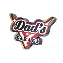 Luminoso a pilha - Dad's Garage