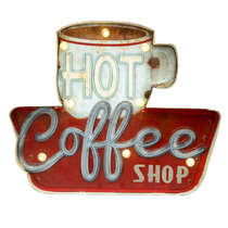 Luminoso a pilha - Hot Coffee Led