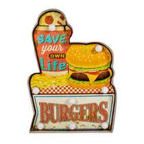Luminoso a pilha Save Burgers - LED