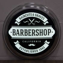 Luminoso LED American Retro - Barber Shop California - 31 cm