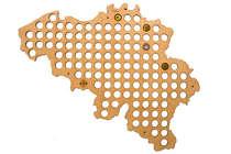 Mapa para coleção de tampinhas - Bélgica - 120 Tampinhas