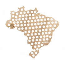 Mapa para coleção de tampinhas - Brasil- 103 Tampinhas