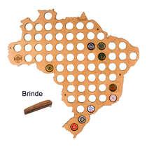 Mapa para coleção de tampinhas - Brasil - 66 Tampinhas
