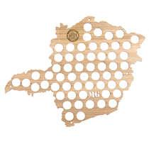 Mapa para coleção de tampinhas - Minas Gerais - 57 Tampinhas