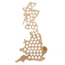 Mapa para coleção de tampinhas - Reino Unido e Irlanda - 75 Tampinhas
