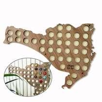 Mapa para coleção de tampinhas - Santa Catarina - 44 Tampinhas
