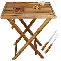 Mesa para churrasco desmontável - TECA + Brinde Garfo e Faca