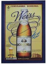 Quadro Mosaico com Azulejos - Bohemia Weiss 50x35cm