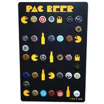 Quadro Porta Tampinhas - Pac Beer - 28 tampinhas