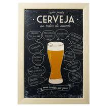 Quadro Metal Cerveja ao Redor do Mundo - 23 x 33 cm