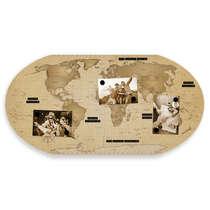 Mural Vintage Mapa Mundi Explorer - 43 x 85 cm