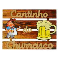 Placa Ripada MDF - Cantinho do Churrasco